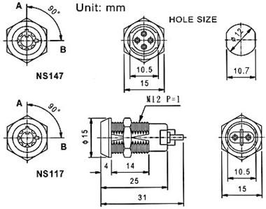 NS117 尺寸